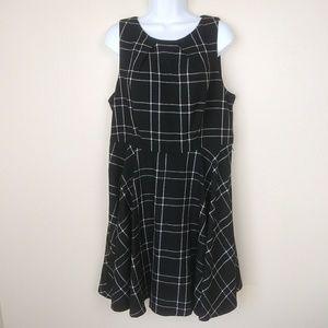 Elle Plus Size 16 Plaid Sleeveless Dress